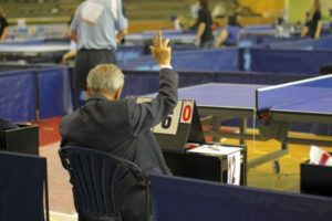 Table Tennis rules - Umpire